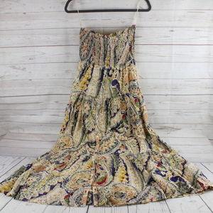American Eagle M Maxi Dress Smocked Boho